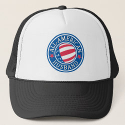 Trucker Hat with All-American Husband design