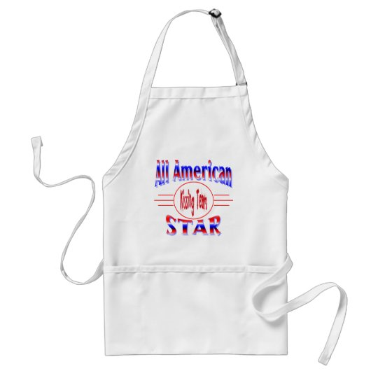 All American Kissing Team Star Adult Apron