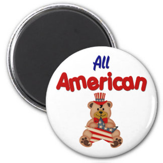 All American 2 Inch Round Magnet