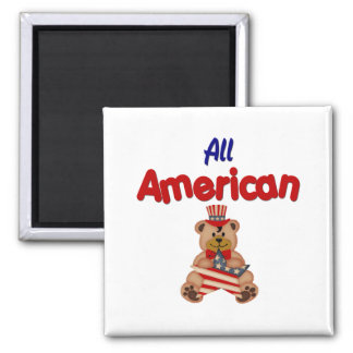 All American 2 Inch Square Magnet