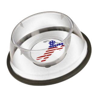 All American Male Golfer Pet Bowl