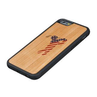 All American Male Golfer Carved® Cherry iPhone 6 Bumper Case