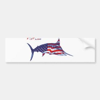 All american marlin car bumper sticker