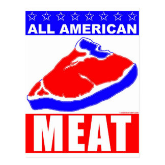 All American Meat Post Card