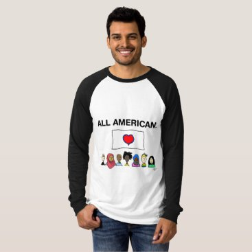 USA Themed All American Men's Baseball Shirt