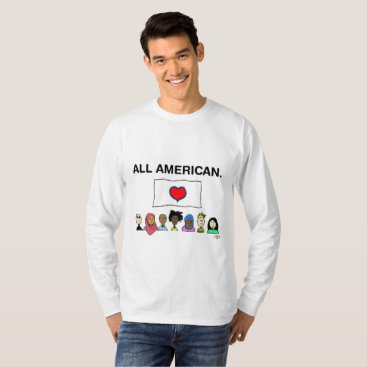 USA Themed All American Men's Longsleeve Shirt