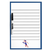All-American Mens Tennis Player Dry-Erase Whiteboard