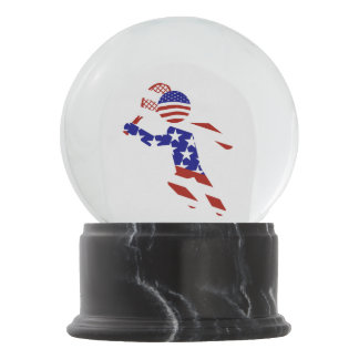 All-American Mens Tennis Player Snow Globes