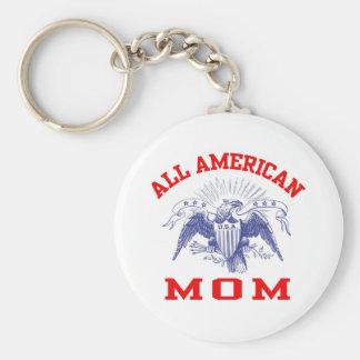 All American Mom Keychain