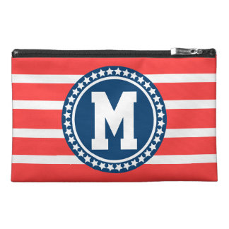 All American Monogrammed Travel Accessory Bags