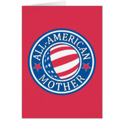 All-American Mother Note Card