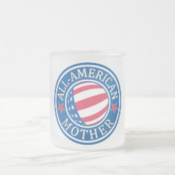 All-American Mother Frosted Glass Mug