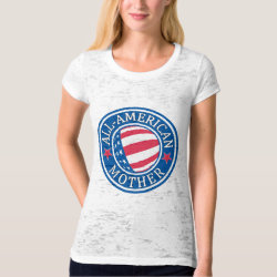 Women's Canvas Fitted Burnout T-Shirt with All-American Mother design