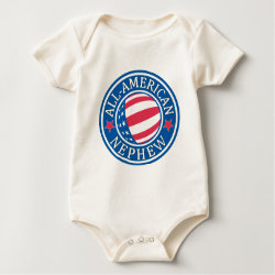 Infant Organic Creeper with All-American Nephew design
