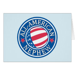 Greeting Card with All-American Nephew design