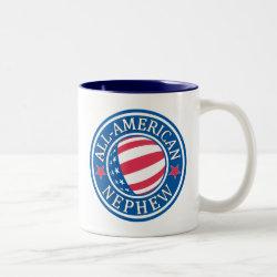 Two-Tone Mug with All-American Nephew design