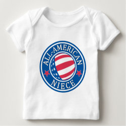 Baby Fine Jersey T-Shirt with All-American Niece design