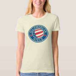 Women's American Apparel Organic T-Shirt with All-American Niece design