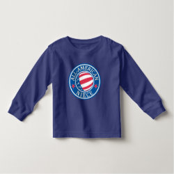 Toddler Long Sleeve T-Shirt with All-American Niece design