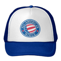 Trucker Hat with All-American Niece design