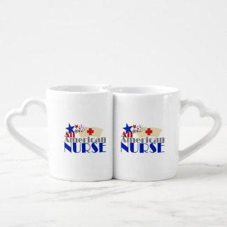 All American Nurse Couples' Coffee Mug Set