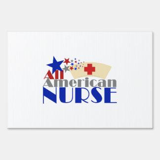 All American Nurse Sign