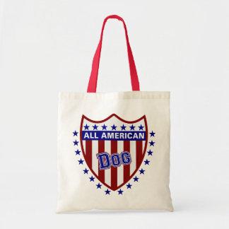 All American Patriotic Dog Tote Bags