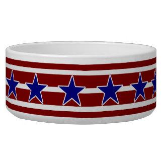 All American Patriotic Dog Dog Water Bowls