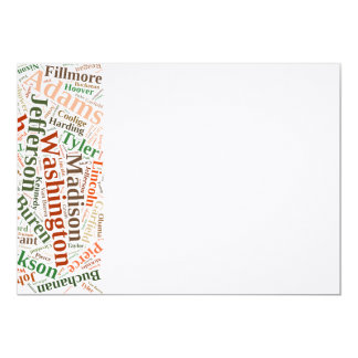 All American presidents Card
