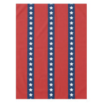 All American Red White and Blue Patriotic Banner Tablecloth