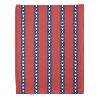 All-american Red White And Blue Patriotic Stripes Duvet Cover at Zazzle