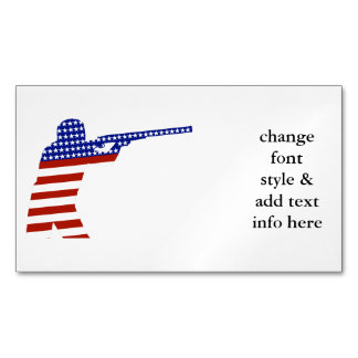 All-American Rifleman/Shooting Contender Business Card Magnet
