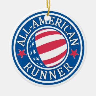 All-American Runner Ceramic Ornament
