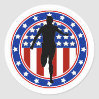 All-American Runner Classic Round Sticker