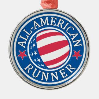 All-American Runner Metal Ornament