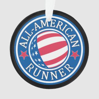 All-American Runner Ornament