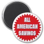 ALL AMERICAN SAVINGS RETAIL LABEL MAGNET