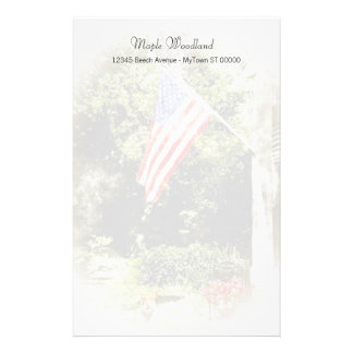 All American Scene Stationery