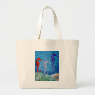 All American Seahorses Canvas Bags