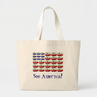 All American Shasta Trailer Tote Canvas Bags