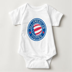 Baby Jersey Bodysuit with All-American Sister design