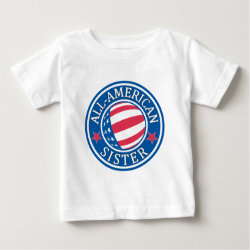 Baby Fine Jersey T-Shirt with All-American Sister design