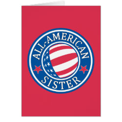 Note Card with All-American Sister design