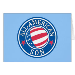Greeting Card with All-American Son design