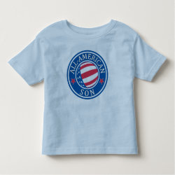 Toddler Fine Jersey T-Shirt with All-American Son design