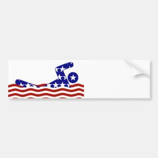 All-American Swimmer Bumper Sticker