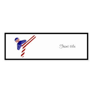 All-American TaeKwondo Kick (1) Double-Sided Mini Business Cards (Pack Of 20)