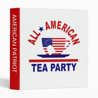 All American Tea Party Patriotic 3 Ring Binder