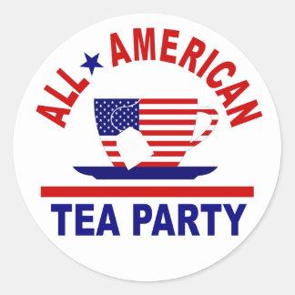 All American Tea Party Patriotic Sticker