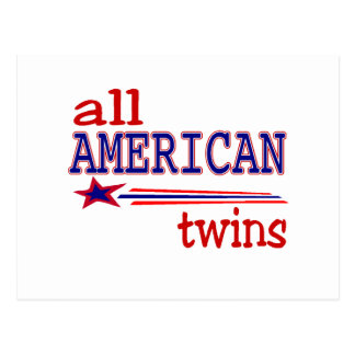 All American Twins Postcard
